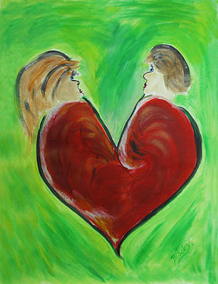 Broken Heart Painting - My Funny Valentine by Donna Blackhall