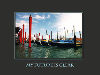 My Future Is Clear Art Print by Donna Corless
