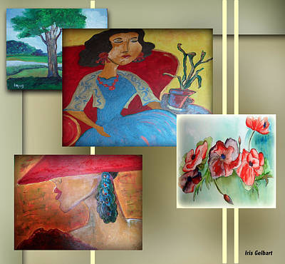 Digital Art - My Gallery by Iris Gelbart