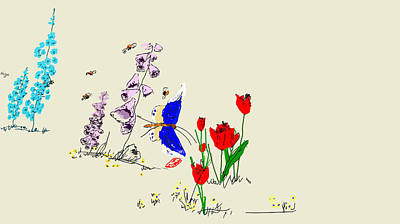 Digital Art - My Garden Grows by Debbi Saccomanno Chan