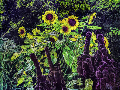 Painting - My Garden's Grande Finale by Ron Richard Baviello