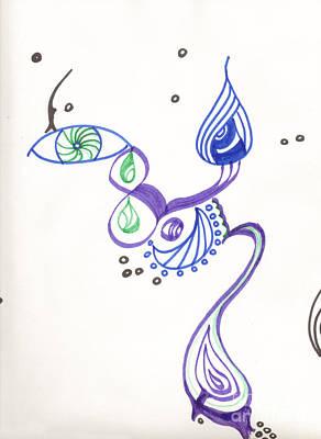 Mixed Media - My Genie by Mary Mikawoz