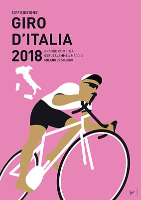 Digital Art - My Giro Ditalia Minimal Poster 2018 by Chungkong Art