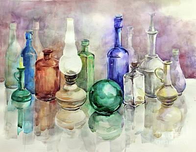 Painting - My Glass Collection I by Nedko  Nedkov