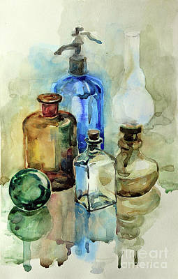 Painting - My Glass Collection II by Nedko  Nedkov