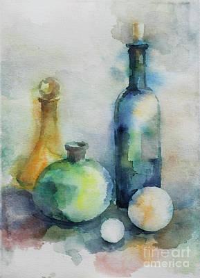 Painting - My Glass Collection V by Nedko  Nedkov