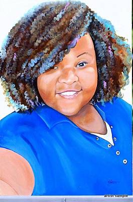 Painting - My Goodness  Selfie by Gwendolyn Frazier