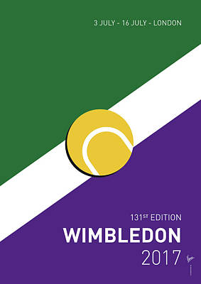 Tennis Digital Art - My Grand Slam 03 Wimbeldon Open 2017 Minimal Poster by Chungkong Art