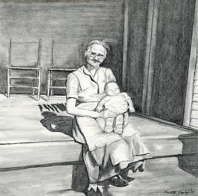 My Grandma Art Print by Charlotte Yealey