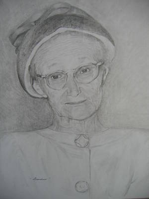 Drawing - My Grandma by Marlene Robbins