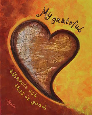Painting - My Grateful Heart by Agata Lindquist