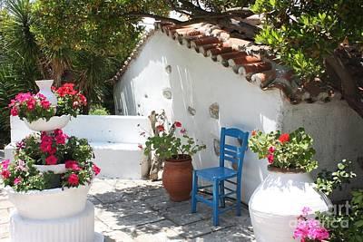 Skiathos Photograph - My Greek Garden by Yvonne Ayoub