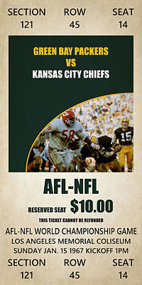 My Green Bay Packers Superbowl Ticket Art Print by Joe Hamilton