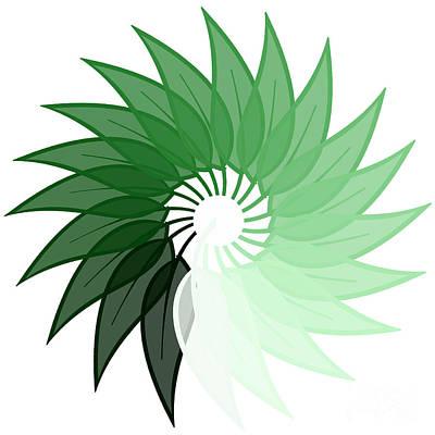 Fallen Leaf Mixed Media - My Green Leaf by Liesl Marelli