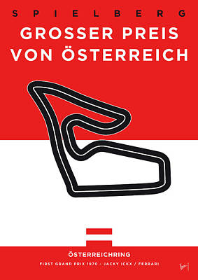 Limited Edition Digital Art - My Grosser Preis Von Osterreich Minimal Poster by Chungkong Art