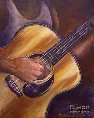 Painting - My Guitar by Deborah Smith