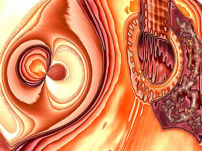 Digital Art - My Guitar Gently Sleeps by Wendy J St Christopher