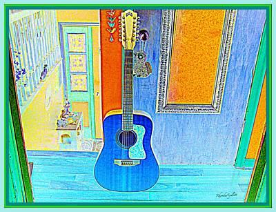 Mixed Media - My Guitar by YoMamaBird Rhonda