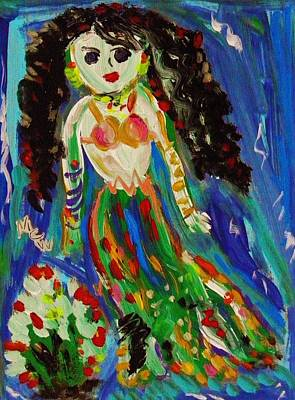 Painting - My Gypsy Mermaid by Mary Carol Williams
