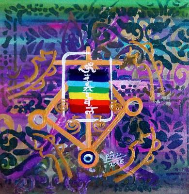 Plenary Healing My Happy Chakras Art Print by Rizwana Mundewadi