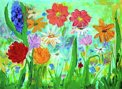 Painting - My Happy Garden 1  by Haleh Mahbod