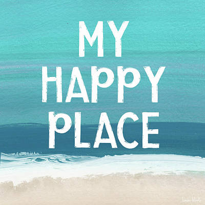 Sky Mixed Media - My Happy Place Beach- Art By Linda Woods by Linda Woods