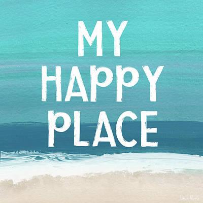 Ocean Mixed Media - My Happy Place Beach- Art By Linda Woods by Linda Woods
