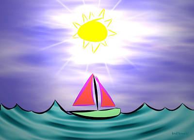 Boating Digital Art - My Happy Place by Kenneth Krolikowski