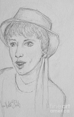 Drawing - My Harrod's Hat by Joan-Violet Stretch