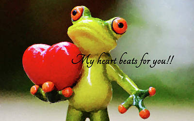 Digital Art -  My Heart Beats For You. by MS  Fineart Creations