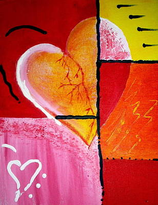 Painting - My Heart Beats For You by Sheila J Hall