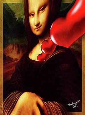 Digital Art - My Heart Belongs To Davinci by Ted Azriel