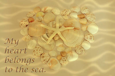 Photograph - My Heart Belongs To The Sea by Angie Tirado