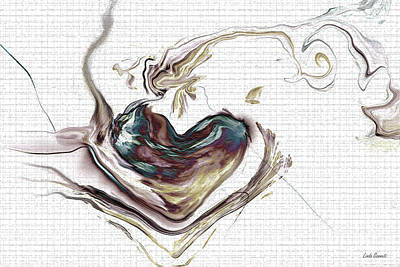Abstract Hearts Digital Art - My Heart Grows by Linda Sannuti