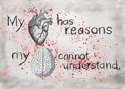 Digital Art - My Heart Has Reasons by Mary Elizabeth Thompson