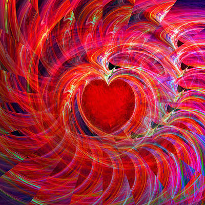 Computer Art Digital Art - My Heart Is All A Flutter by Michael Durst
