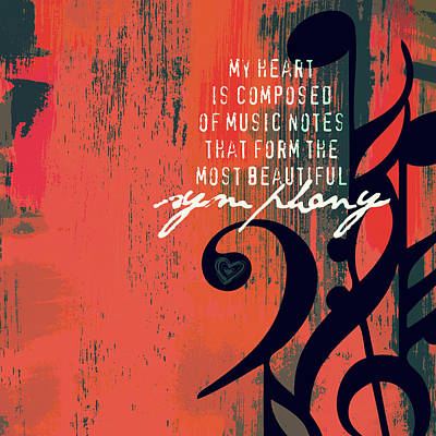 My Heart Is Composed Of Music Notes Art Print by Brandi Fitzgerald