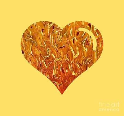 Digital Art - My Heart Is On Fire by Rachel Hannah