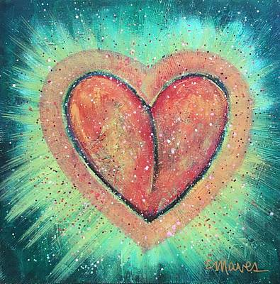 Art Print featuring the painting My Heart Loves You by Laurie Maves ART