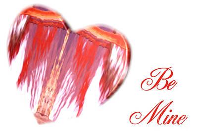 Digital Art - My Heart Melts-be Mine Card by Wendy Wilton