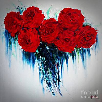 Painting - My Heart Of Roses by AmaS Art