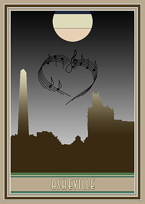 Digital Art - My Heart Sings Of Asheville by John Haldane