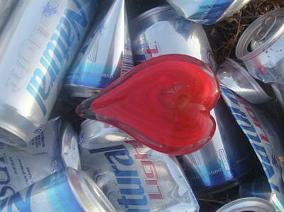 Empty Beer Cans Photograph - My Hearts Drunk With Love by WaLdEmAr BoRrErO