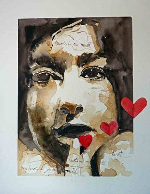 Art Print featuring the painting My Hearts In My Mouth by P Maure Bausch