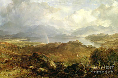 Bucolic Scenes Painting - My Heart's In The Highlands, 1860 by Horatio McCulloch