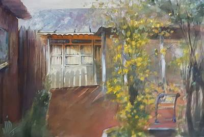 Painting - My Home In The Eavning by Vali Irina Ciobanu