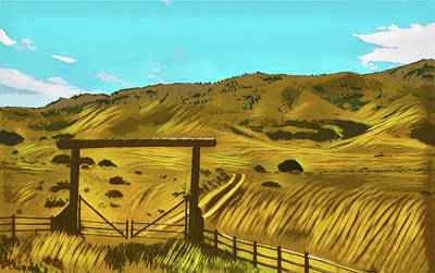Digital Art - My Idaho Home by Susan Vineyard