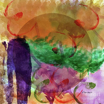 Abstract Digital Painting - My Imagination by Deborah Benoit