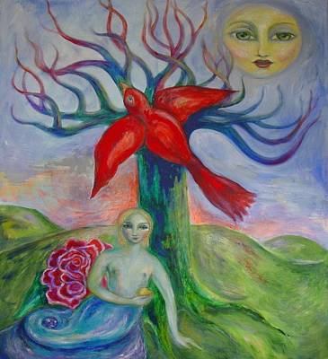 Metaphysical Painting - My Inner Mermaid by Shoshanna Lightsmith