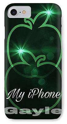 Digital Art - My Iphone N Dark Green by Gayle Price Thomas